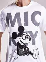 Biały t-shirt męski MICKEY MOUSE                                                                           zdj.                                                                         7