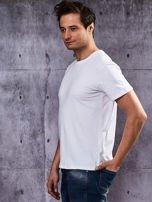 Biały t-shirt męski basic                                  zdj.                                  3