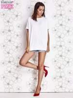 Biały t-shirt oversize                                  zdj.                                  2
