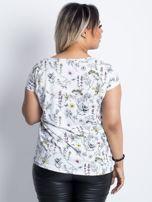 Biały t-shirt plus size Tranquility                                  zdj.                                  2