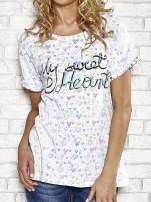 Biały t-shirt w serduszka z napisem MY SWEET HEART Funk 'n' Soul                                  zdj.                                  4
