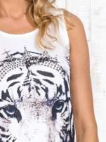 Biały top z motywem tygrysa                                  zdj.                                  5