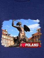 Bluza damska I LOVE POLAND z nadrukiem Warszawy granatowa                                  zdj.                                  2