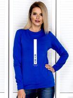 Bluza damska RYBY znak zodiaku kobaltowa                                  zdj.                                  1