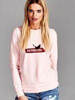 Bluza damska patriotyczna PATRIOTKA z orłem różowa                                  zdj.                                  1