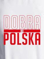 Bluza damska patriotyczna nadruk DOBRA BO POLSKA ecru                                  zdj.                                  2
