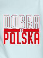 Bluza damska patriotyczna nadruk DOBRA BO POLSKA miętowa                                  zdj.                                  2