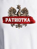Bluza damska patriotyczna z Orłem Białym PATRIOTKA ecru                                  zdj.                                  2