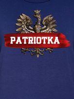 Bluza damska patriotyczna z Orłem Białym PATRIOTKA granatowa                                  zdj.                                  2