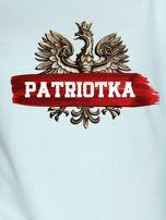 Bluza damska patriotyczna z Orłem Białym PATRIOTKA miętowa                                  zdj.                                  2