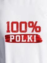 Bluza damska patriotyczna z nadrukiem 100% POLKI ecru                                  zdj.                                  2