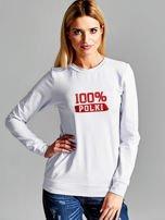 Bluza damska patriotyczna z nadrukiem 100% POLKI jasnoszara