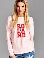 Bluza damska z nadrukiem MADE IN POLAND różowa                                  zdj.                                  1