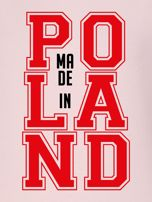 Bluza damska z nadrukiem MADE IN POLAND różowa                                  zdj.                                  2