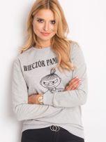 Bluza damska z napisem WIECZÓR PANIEŃSKI szara                                  zdj.                                  1