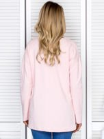 Bluza damska z serduszkami różowa                                  zdj.                                  2