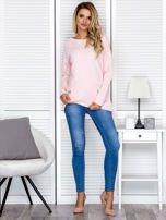 Bluza damska z serduszkami różowa                                  zdj.                                  4