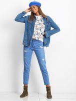 Bluza w niebieskie kwiaty                                  zdj.                                  4