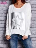 Bluza z motywem gwiazdy ecru                                  zdj.                                  1