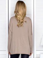 Bluzka damska oversize beżowa                                  zdj.                                  2