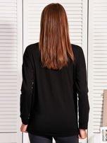 Bluzka damska z cekinowym napisem czarna                                  zdj.                                  2