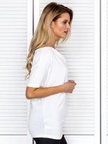 Bluzka damska z lejącym dekoltem ecru                                  zdj.                                  3