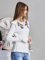 Bluzka z falbankami na ramionach ecru                                  zdj.                                  5