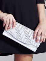 Błyszcząca wizytowa kopertówka srebrna                                  zdj.                                  1