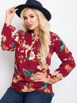 Bordowa bluzka plus size Spring                                  zdj.                                  1