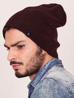 Bordowa czapka męska beanie                                   zdj.                                  2