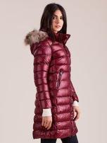 Bordowa damska kurtka zimowa                                  zdj.                                  3