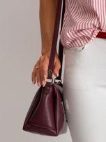 Bordowa damska torebka skórzana                                  zdj.                                  3