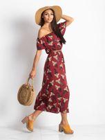 Bordowa sukienka Centerpiece                                   zdj.                                  3