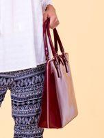 Bordowa torba damska z odpinanym paskiem                                  zdj.                                  3