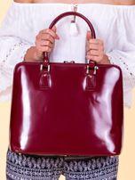 Bordowa torba damska z odpinanym paskiem                                  zdj.                                  4
