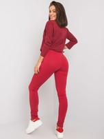 Bordowe legginsy Basic                                  zdj.                                  1