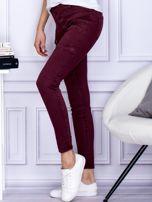 Bordowe spodnie z kieszeniami                                   zdj.                                  3