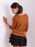 Brązowa bluzka z motywem zwierzęcym                                  zdj.                                  10