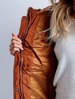 Brązowa kurtka zimowa pikowana                                  zdj.                                  9