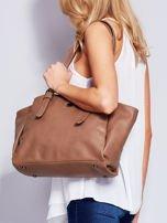 Brązowa miękka torba w miejskim stylu                                  zdj.                                  4
