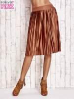 Brązowa plisowana spódnica midi                                  zdj.                                  2
