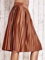 Brązowa plisowana spódnica midi                                  zdj.                                  8