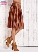 Brązowa plisowana spódnica midi                                  zdj.                                  4