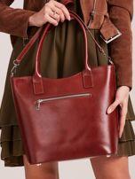 Brązowa skórzana torebka z odpinanym paskiem                                  zdj.                                  3