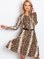 Brązowa sukienka Bossing                                  zdj.                                  5