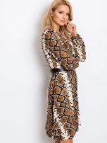 Brązowa sukienka Bossing                                  zdj.                                  6