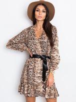Brązowa sukienka Shock                                  zdj.                                  1