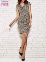 Brązowa sukienka w etniczne wzory                                  zdj.                                  2