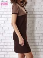 Czarna sukienka ze złotymi guzikami                                                                          zdj.                                                                         3