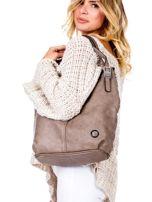 Brązowa torba o plecionej fakturze                                  zdj.                                  5